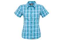 The North Face W S/S Bouder Penelope Woven flamenco blue plaid
